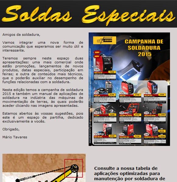 Aplicações de soldadura para terraplanagem